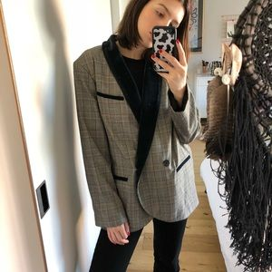 7ba30c0f67003 Free People Jackets & Coats - Free People Checkered Blazer with Velvet  Detail
